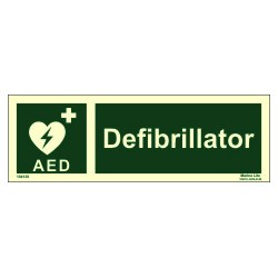 DEFIBRILATOR  (10x30cm) Phot.Vin. IMO sign 104138 / EES010
