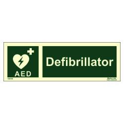 Señal IMO AED DESFIBRILADOR (10x30cm) vinilo fotoluminiscente 104138 / EES010