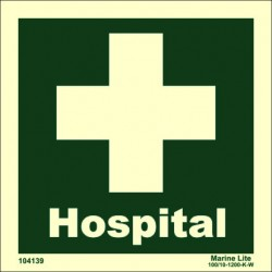 HOSPITAL  (15x15cm) Phot.Vin. IMO sign 104139