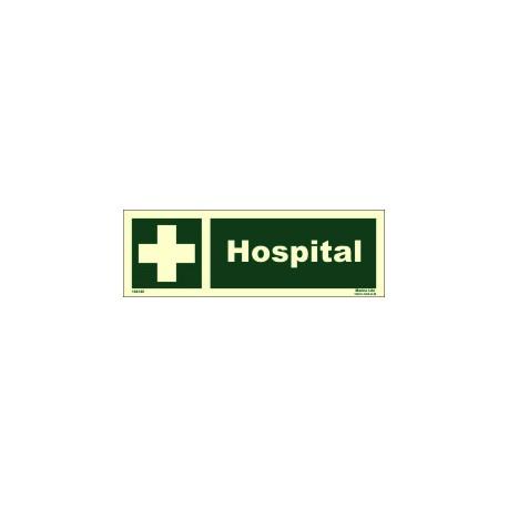 Señal IMO HOSPITAL (10x30cm) vinilo fotoluminiscente 104140