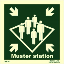 MUSTER STATION  (15x15cm) Phot.Vin. IMO sign 104141