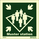 MUSTER STATION  (15x15cm) Phot.Vin. IMO sign 104141 / MES001