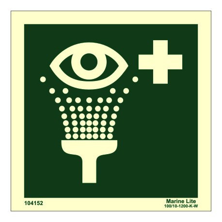 EMERGENCY EYE WASH  (15x15cm) Phot.Vin. IMO sign 104152