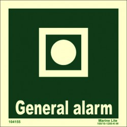 GENERAL ALARM  (15x15cm) Phot.Vin. IMO sign 104155 / EES012