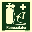 RESUSCITATOR  (15x15cm) Phot.Vin. IMO sign 104156 / EES007