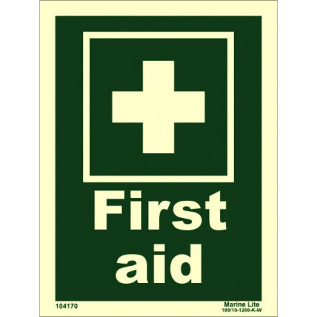FIRST AID  (20x15cm) Phot.Vin. IMO sign 104170 / EES001