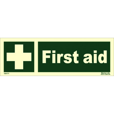 FIRST AID  (10x30cm) Phot.Vin. IMO sign 104171 / EES001