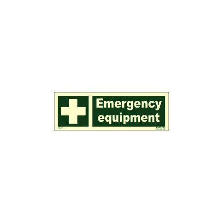EMERGENCY EQUIPMENT  (10x30cm) Phot.Vin. IMO sign 104173