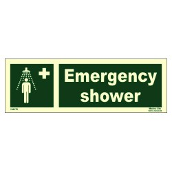 EMERGENCY SHOWER  (10x30cm) Phot.Vin. IMO sign 104176 / EES004