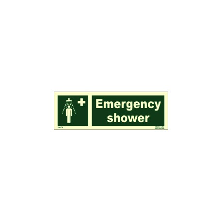 EMERGENCY SHOWER  (10x30cm) Phot.Vin. IMO sign 104176