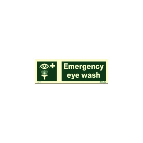 EMERGENCY EYE WASH  (10x30cm) Phot.Vin. IMO sign 104177