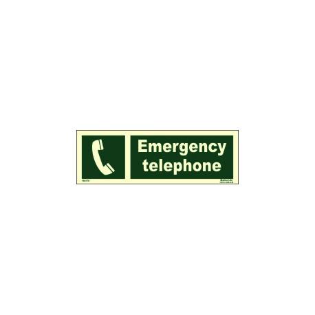 Señal IMO TELÉFONO DE EMERGENCIA (10x30cm) vinilo fotoluminiscente 104178 / EES002