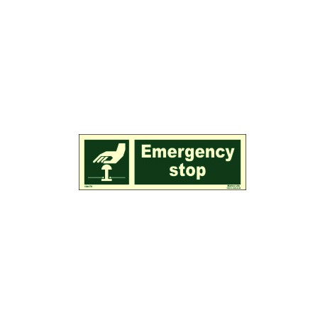 EMERGENCY STOP  (10x30cm) Phot.Vin. IMO sign 104179