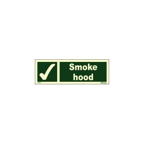 SMOKE HOOD  (10x30cm) Phot.Vin. IMO sign 104183