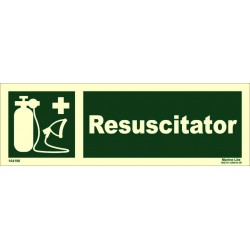 RESUSCITATOR  (10x30cm) Phot.Vin. IMO sign 104190 / EES007