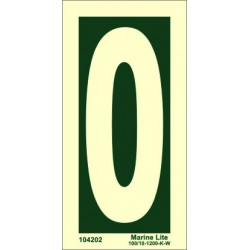 NUMBER 0  (15x7,5cm) Phot.Vin. IMO sign 104200