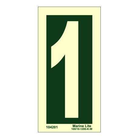 NUMBER 1  (15x7,5cm) Phot.Vin. IMO sign 104201