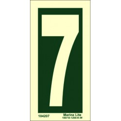 NUMBER 7  (15x7,5cm) Phot.Vin. IMO sign 104207
