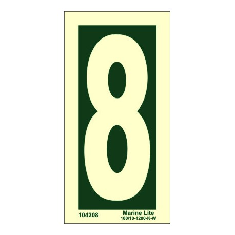 NUMBER 8  (15x7,5cm) Phot.Vin. IMO sign 104208