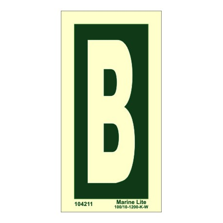 LETTER B  (15x7,5cm) Phot.Vin. IMO sign 104211