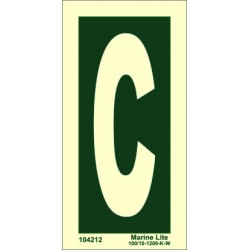 LETTER C  (15x7,5cm) Phot.Vin. IMO sign 104212