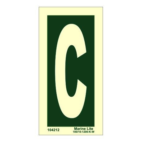 "Señal IMO LETRA ""C"" (15x7,5cm) vinilo fotoluminiscente 104212"