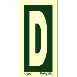 LETTER D  (15x7,5cm) Phot.Vin. IMO sign 104213