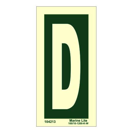 """Señal IMO LETRA """"D"""" (15x7,5cm) vinilo fotoluminiscente 104213"""