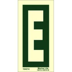 LETTER E  (15x7,5cm) Phot.Vin. IMO sign 104214