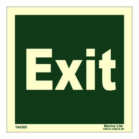EXIT  (15x15cm) Phot.Vin. IMO sign 104385