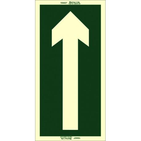 ARROW  (15x30cm) Phot.Vin. IMO sign 104427