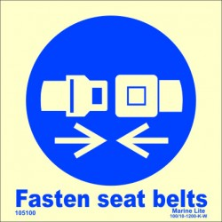 FASTEN SEAT BELTS  (15x15cm) Phot.Vin. IMO sign 105100
