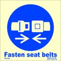 FASTEN SEAT BELTS  (15x15cm) Phot.Vin. IMO sign 105100 / MSS022