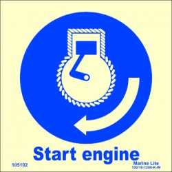 START ENGINE  (15x15cm) Phot.Vin. IMO sign 105102 / MSS024