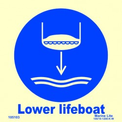 LOWER LIFEBOAT  (15x15cm) Phot.Vin. IMO sign 105103 / MSS025