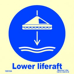 LOWER LIFERAFT  (15x15cm) Phot.Vin. IMO sign 105104 / MSS026