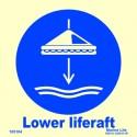 LOWER LIFERAFT  (15x15cm) Phot.Vin. IMO sign 105104 / MSS026