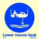 LOWER RESCUE BOAT  (15x15cm) Phot.Vin. IMO sign 105105