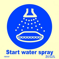 START WATER SPRAY  (15x15cm) Phot.Vin. IMO sign 105107 / MSS029