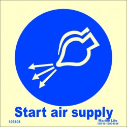 START AIR SUPPLY  (15x15cm) Phot.Vin. IMO sign 105108 / MSS030