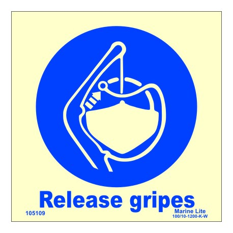 RELEASE GRIPES  (15x15cm) Phot.Vin. IMO sign 105109 / MSS031