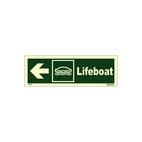 LIFEBOAT SIDE LEFT  (10x30cm) Phot.Vin. IMO sign 114304