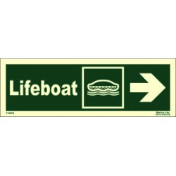 LIFEBOAT SIDE RIGHT  (10x30cm) Phot.Vin. IMO sign 114305