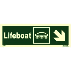 LIFEBOAT SIDE DOWN RIGHT  (10x30cm) Phot.Vin. IMO sign 114307