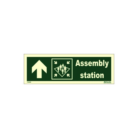 ASSEMBLY STATION UP LEFT  (10x30cm) Phot.Vin. IMO sign 114320