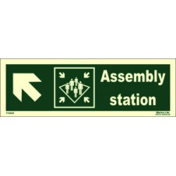 ASSEMBLY STATION SIDE LEFT UP  (10x30cm) Phot.Vin. IMO sign 114322