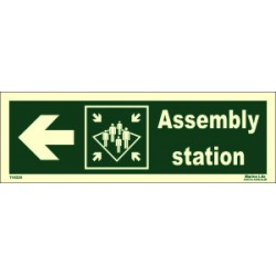 ASSEMBLY STATION SIDE LEFT  (10x30cm) Phot.Vin. IMO sign 114324