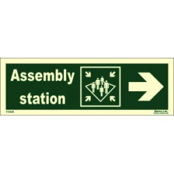 ASSEMBLY STATION SIDE RIGHT  (10x30cm) Phot.Vin. IMO sign 114325
