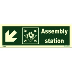 ASSEMBLY STATION SIDE DOWN LEFT  (10x30cm) Phot.Vin. IMO sign 114326