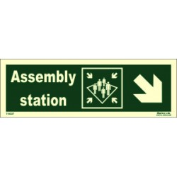 ASSEMBLY STATION SIDE DOWN RIGHT  (10x30cm) Phot.Vin. IMO sign 114327